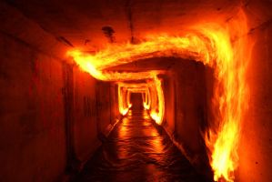 Burning tunnel by Seselgis