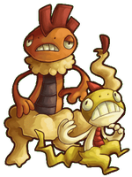 scraggy and scrafty by Awehhh