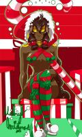 Candy Cane Kurima says: Merry Christmas! by UltimateSketchQueen
