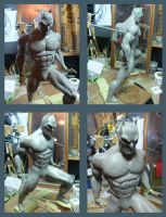 Batman Sculpture WIP. by Leebea