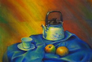 Still life with tea-kettle by Victoria-Poloniae