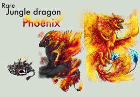 Adopt -Jungle Dragon- Phoenix by elen89