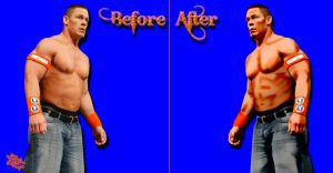 John Cena Before and After Cartoon by BlazesCreations