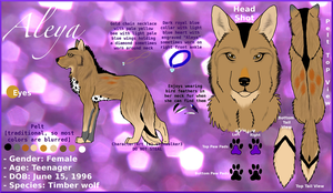 Aleya Reference Sheet: 2011 by skinwalker3