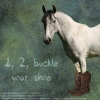 1, 2, ... buckle your shoe by ladykraut