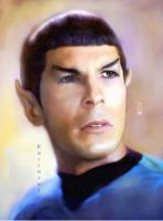 Spock  from a rare photo by karracaz