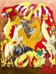 Fire Pokemon by Lesh4537