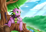 [Side Art] Spike The Gem Hunter by vavacung