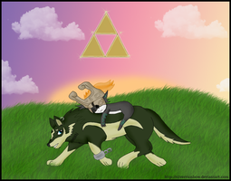 Link and Midna by SilverShadowfax