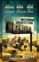 Urban Party Flyer by cleanstroke