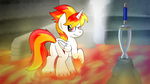 Flamerunner Finds Her Destiny by drawponies