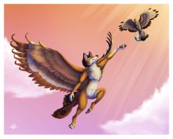 Midair Courier by Silvixen