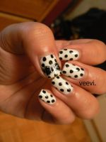 Black and White Polka Dot by VeeviS2