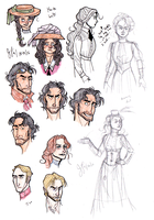 Maelstrom Sketches: Colored Pencils by Capella336