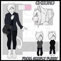 Chioro Reference Sheet From Simply Furry by Chiorro