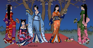 Sailor Moon and the Inner Senshi as Geisha by Arimus79