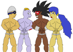 Four-Way Fundoshi Boys by Smashbro619