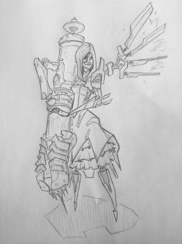 Battleborn Beatrix reference drawing FanArt by MechDennis