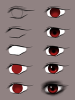 Tutorial red eyes by Koboiczna