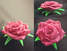 .: Realistic Pink Rose :. by tanya1
