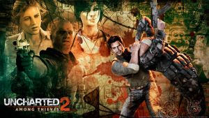 Uncharted 2 wallpaper 2 by De-monVarela