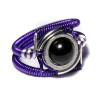 Cyberpunk Black Onyx Ring by CatherinetteRings