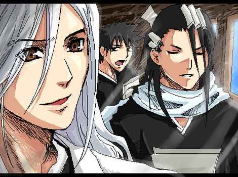 BLEACH- Happy People: 13th Div by meru-chan