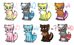 FURSONA ADOPTABLES by ShayminLover101