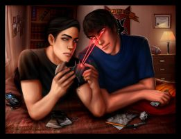 Clark and Bruce by jasric