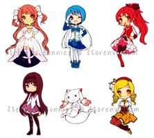 Stickers: Madoka Magica by Steamed-Bun