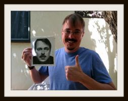 Vince Gilligan w/Drawing - creator of BREAKING BAD by Doctor-Pencil