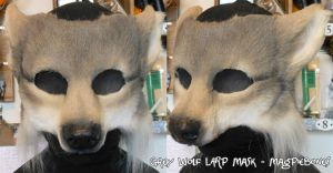 Grey Wolf LARP Mask by Magpieb0nes