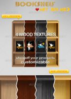 4 Wooden Textured Bookshelf by tommiek