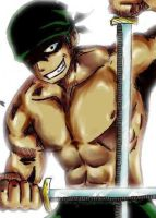 Roronoa Zoro in Color- Zoom by M-House