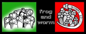 frog and worm by ripperandriy