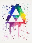 Watercolor TRIFORCE by Kattvalk
