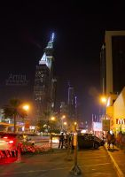 Sheikh Zayed road at night  new edition 5 by amirajuli