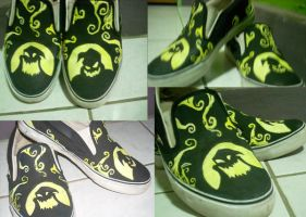 oogie boogie customized shoes by markthat