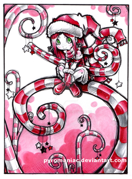 Candy cane spirit by Parororo