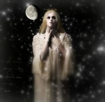 The sadness of the moon by Bohemiart
