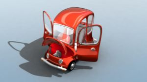 Cartoon car 'under the hood' by osmala
