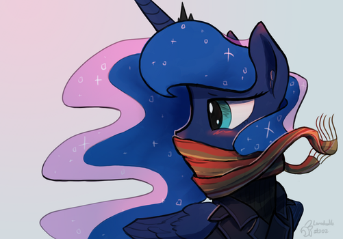 Lunadoodle #202: SCARF by DarkFlame75
