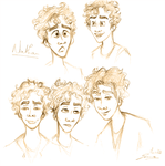Misfits - Nathan sketchdump by Honey-Lady-Bee