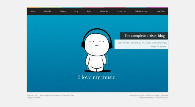 Playlist WP and HTML Template by CHemiCalINCK
