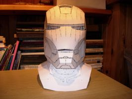 Iron Man Helmet pepakura model by CubicalMember