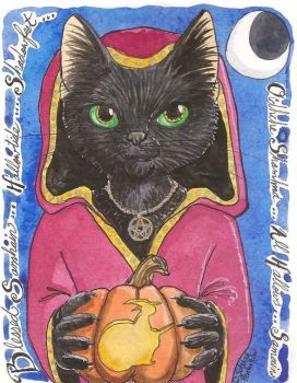 Samhain Cat Witch by The-IceKat