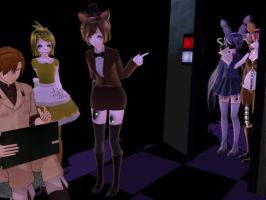 You forgot close the door-MMD by ornella09