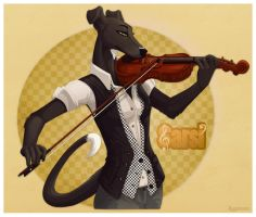 Sarsi Violin Badge by Plaguedog