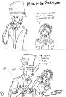 Mad Hatter and Alice 1 by lizabeth
