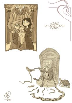 Lemony snicket: chapter illustrations set 1 by MarcoGiorgianni